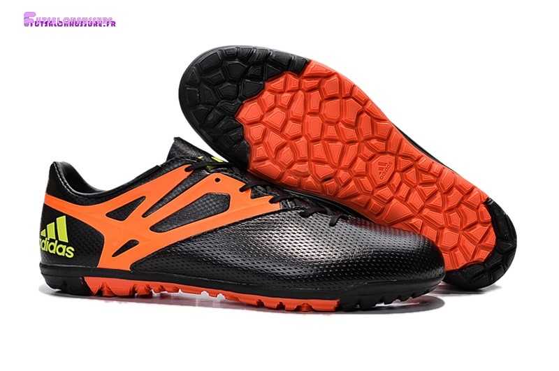 Rabais- Adidas Messi 15.3 TF Noir Orange
