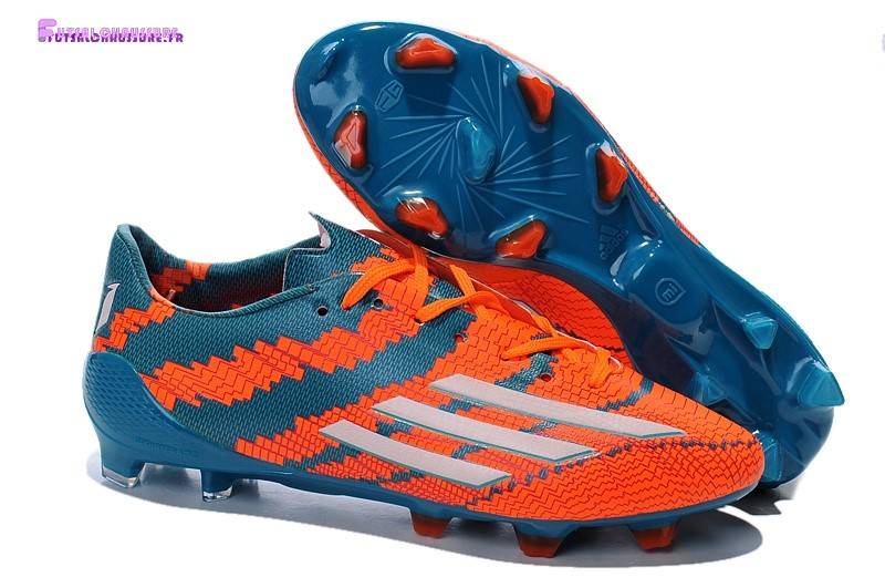 Rabais- Adidas Messi F50 FG Orange Bleu
