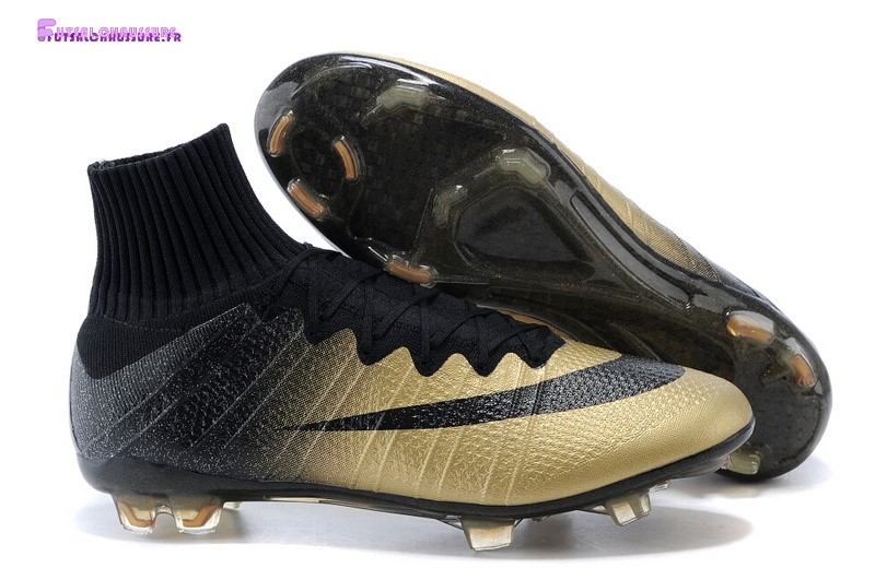 Rabais- Nike Mercurial Superfly CR7 FG Noir Or