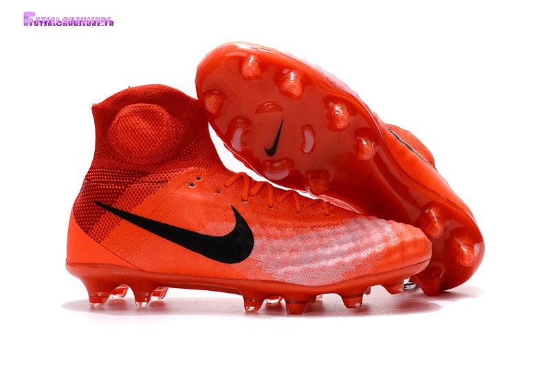Rabais- Nike Magista obra II FG Orange Noir Rouge