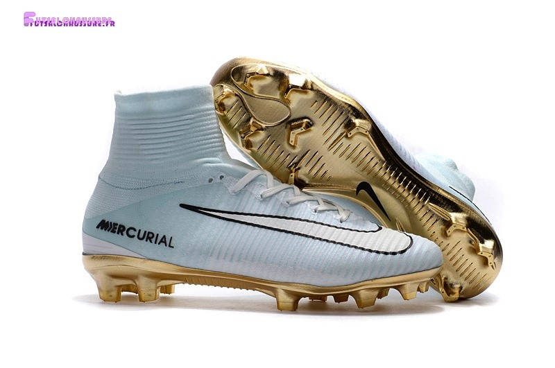 Rabais- Nike Mercurial Superfly CR7 FG Blanc Or