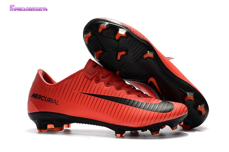 Rabais- Nike Mercurical Victory VI TPU FG Noir Orange