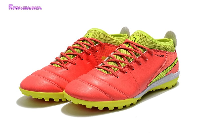 Rabais- Puma One Cuir 18.1 Syn TF Orange