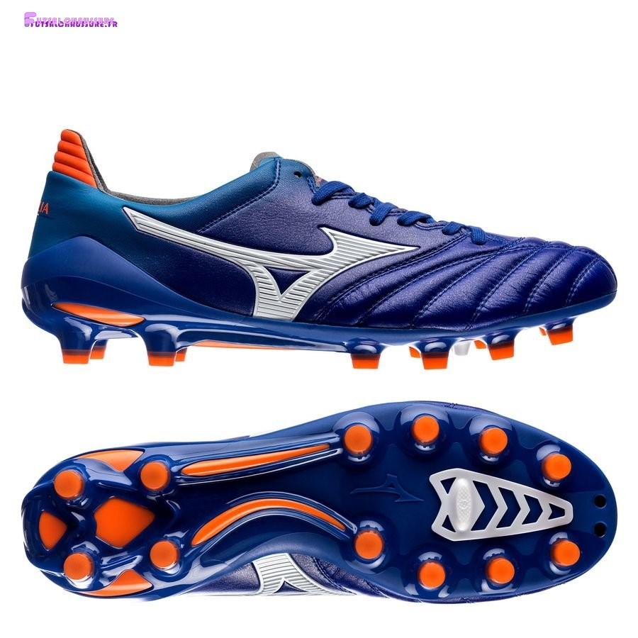 Rabais- Mizuno Morelia Neo II Made in Japan FG Bleu Orange