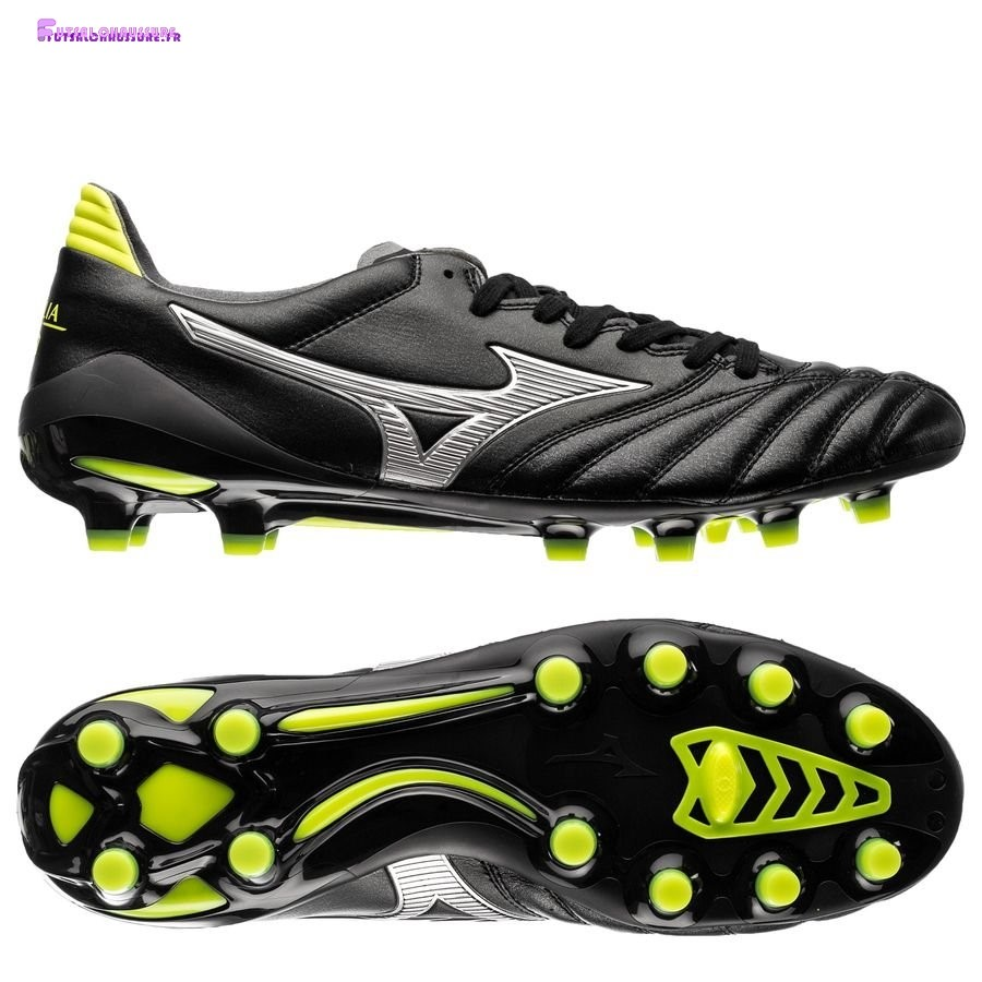 Rabais- Mizuno Morelia Neo II Made in Japan FG Noir Star Noir Jaune