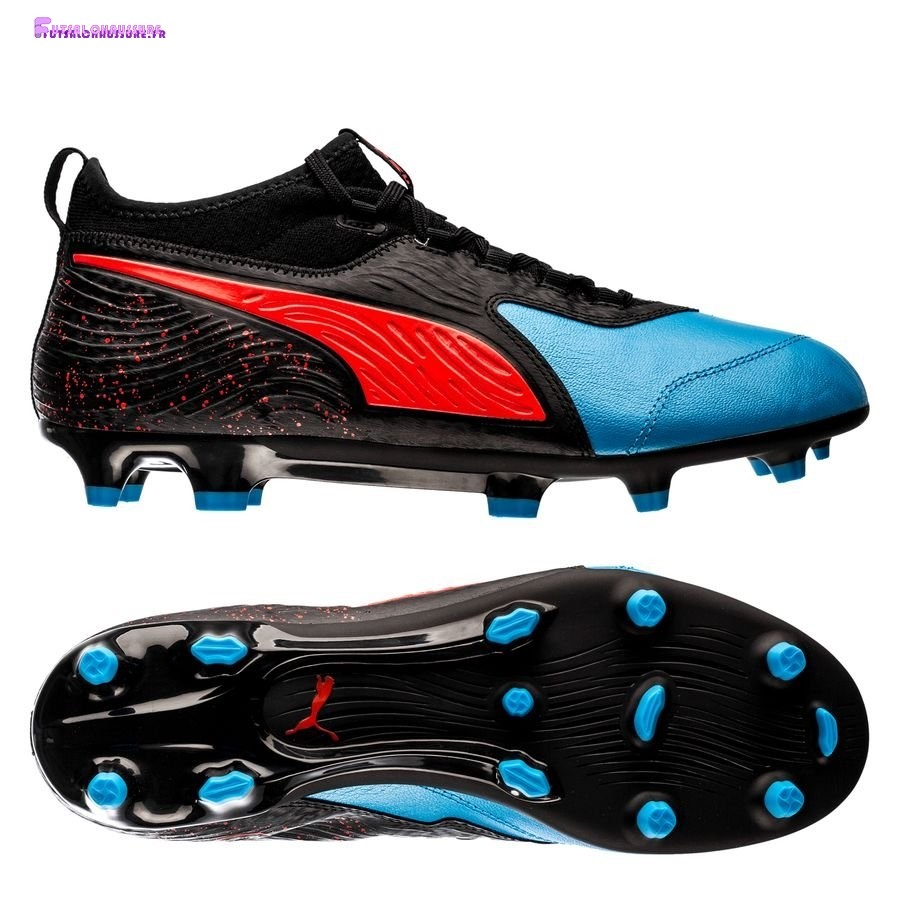 Rabais- Puma One 19.3 FG/AG Power Up Bleu Noir