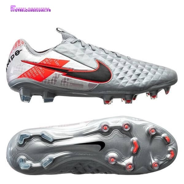 Rabais- Nike Tiempo Legend 8 Elite Femme FG Neighbourhood Métallique Gris Noir