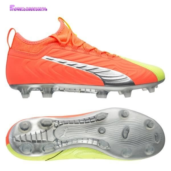 Rabais- Puma One 20.3 FG/AG Rise Orange Jaune Argent