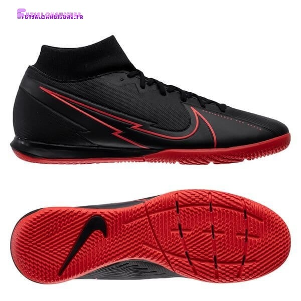 Rabais- Nike Mercurial Superfly 7 Academy IC Noir Rouge