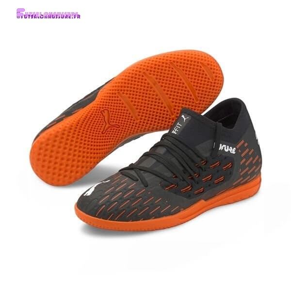 Rabais- Puma Future 6.3 Netfit Enfant IT Chasing Adrenaline Noir Blanc Orange
