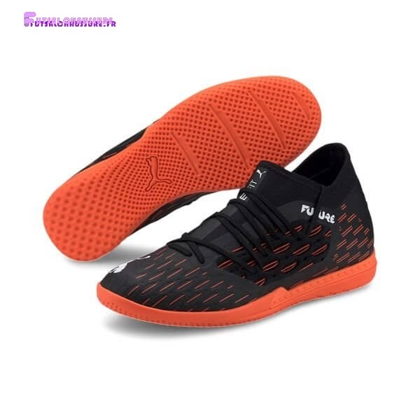 Rabais- Puma Future 6.3 Netfit IT Chasing Adrenaline Noir Blanc Orange