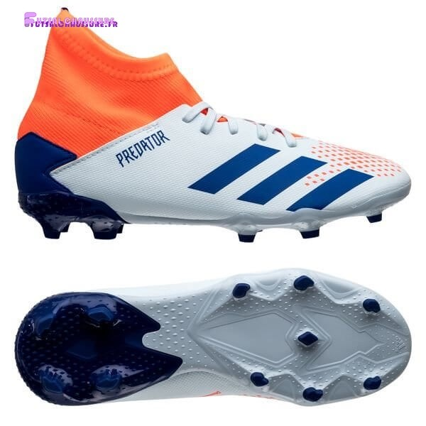 Rabais- Adidas Predator 20.3 Enfant FG/AG Glory Hunter Bleu Blanc Orange