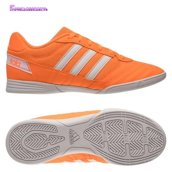 Rabais- Adidas Super Sala Enfant IC Orange Blanc