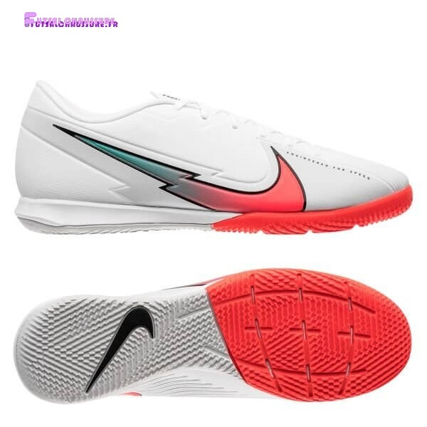 Rabais- Nike Mercurial Vapor 13 Academy IC Flash Crimson Blanc