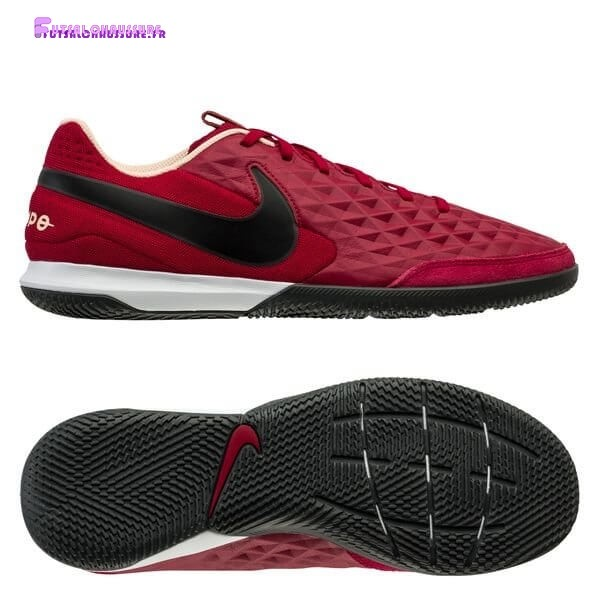 Rabais- Nike Tiempo Legend 8 Academy IC Play Mode Rouge Noir Blanc
