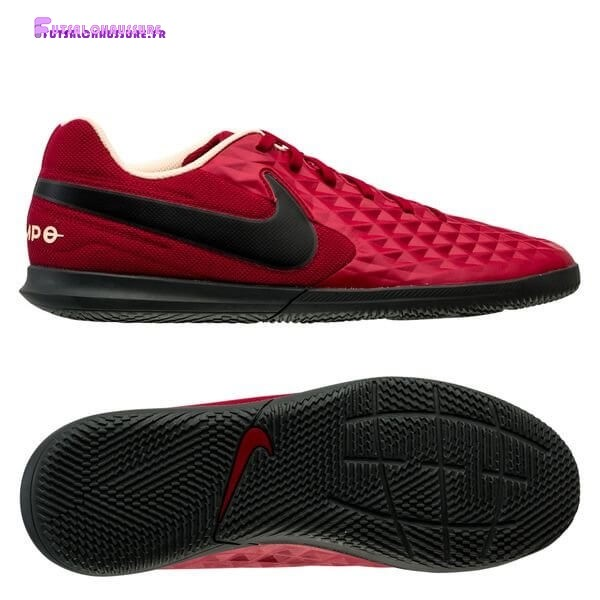 Rabais- Nike Tiempo Legend 8 Club Femme IC Play Mode Rouge Noir Blanc